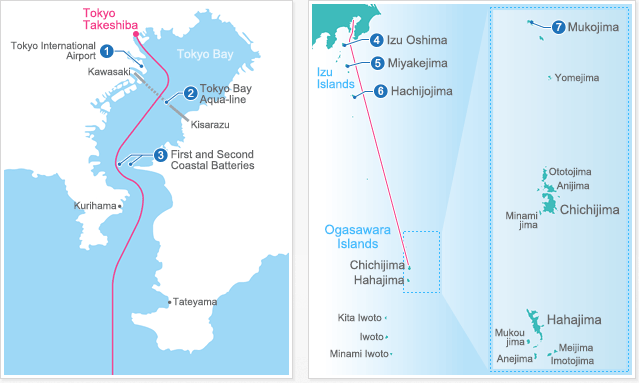 Route mapOgasawaraKaiun